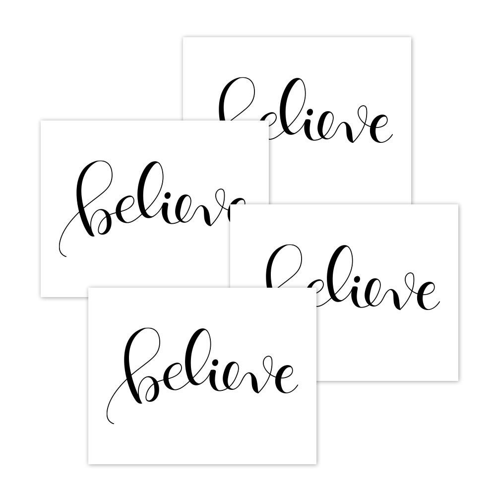 Simon Says Stamp 'Believe' Acetate x 4 set