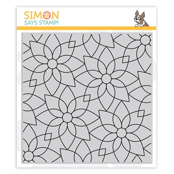 Simon Says Cling Stamp MODERN POINSETTIA sss102233 Make Merry
