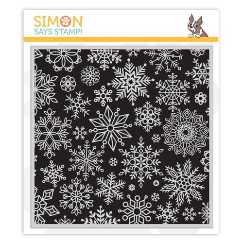 Simon Says Cling Stamp ALL SNOWFLAKES BACKGROUND sss102243 Make Merry Preview Image