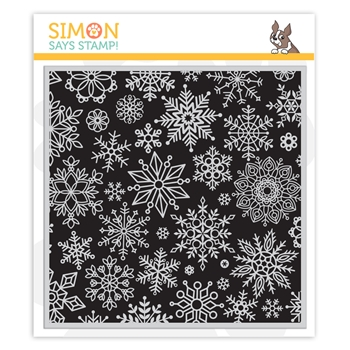 Simon Says Cling Stamp ALL SNOWFLAKES BACKGROUND sss102243 Make Merry