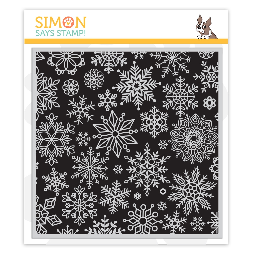 Simon Says Cling Stamp ALL SNOWFLAKES BACKGROUND sss102243 Make Merry zoom image