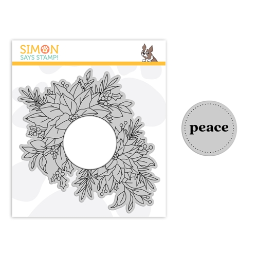 Simon Says Cling Stamp CENTER CUT HOLIDAY FLORAL sss102178 Make Merry Preview Image