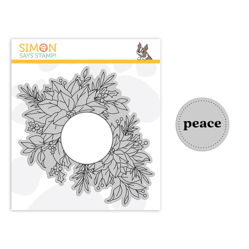 Simon Says Cling Stamp CENTER CUT HOLIDAY FLORAL sss102178 Make Merry zoom image