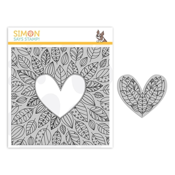 Simon Says Cling Stamp CENTER CUT FALL LEAVES sss102155 Make Merry