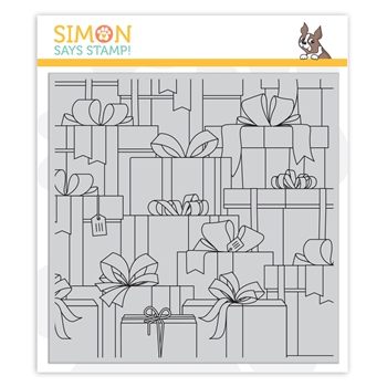 Simon Says Cling Stamp GIFT BOXES sss102169 Make Merry