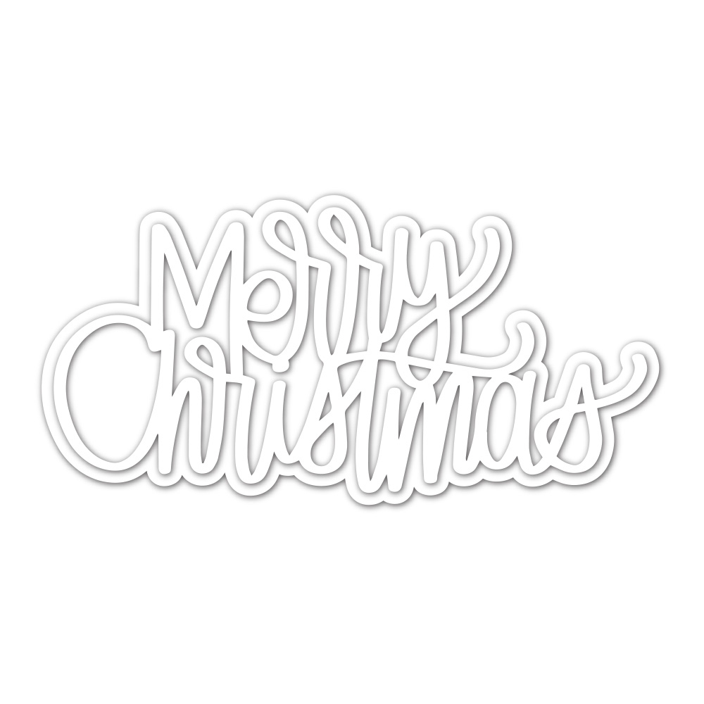 Simon Says Stamp LARGE WRITTEN MERRY CHRISTMAS Wafer Die sssd112237 Make Merry zoom image