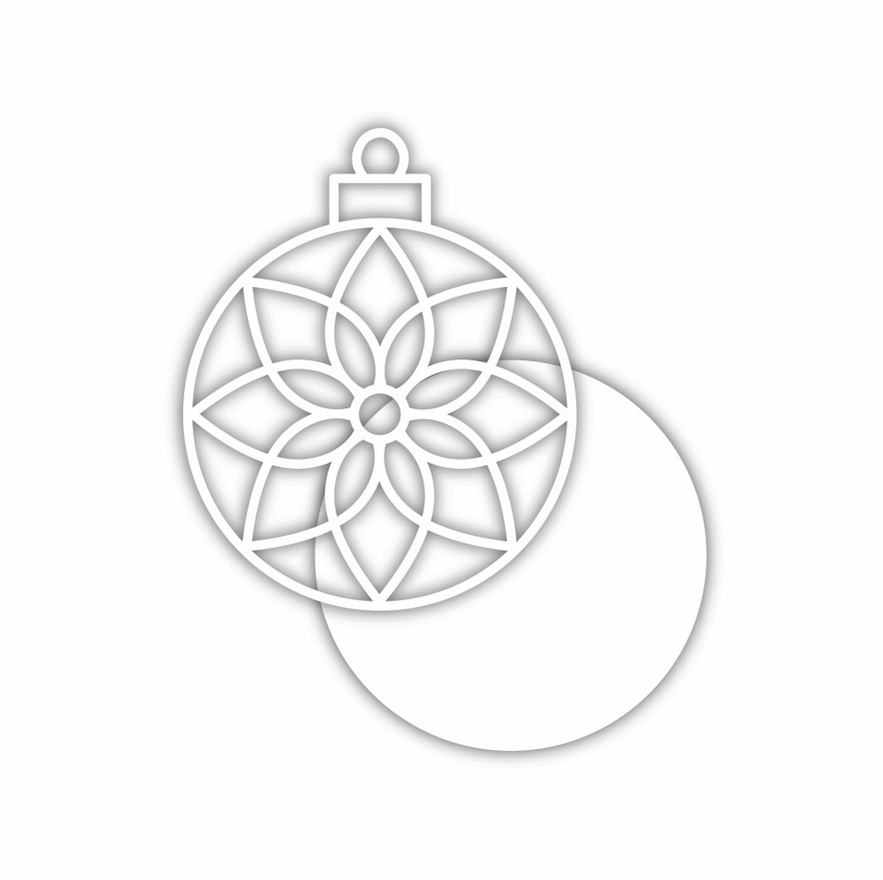 Simon Says Stamp POINSETTIA ORNAMENT Wafer Die sssd112234 Make Merry zoom image