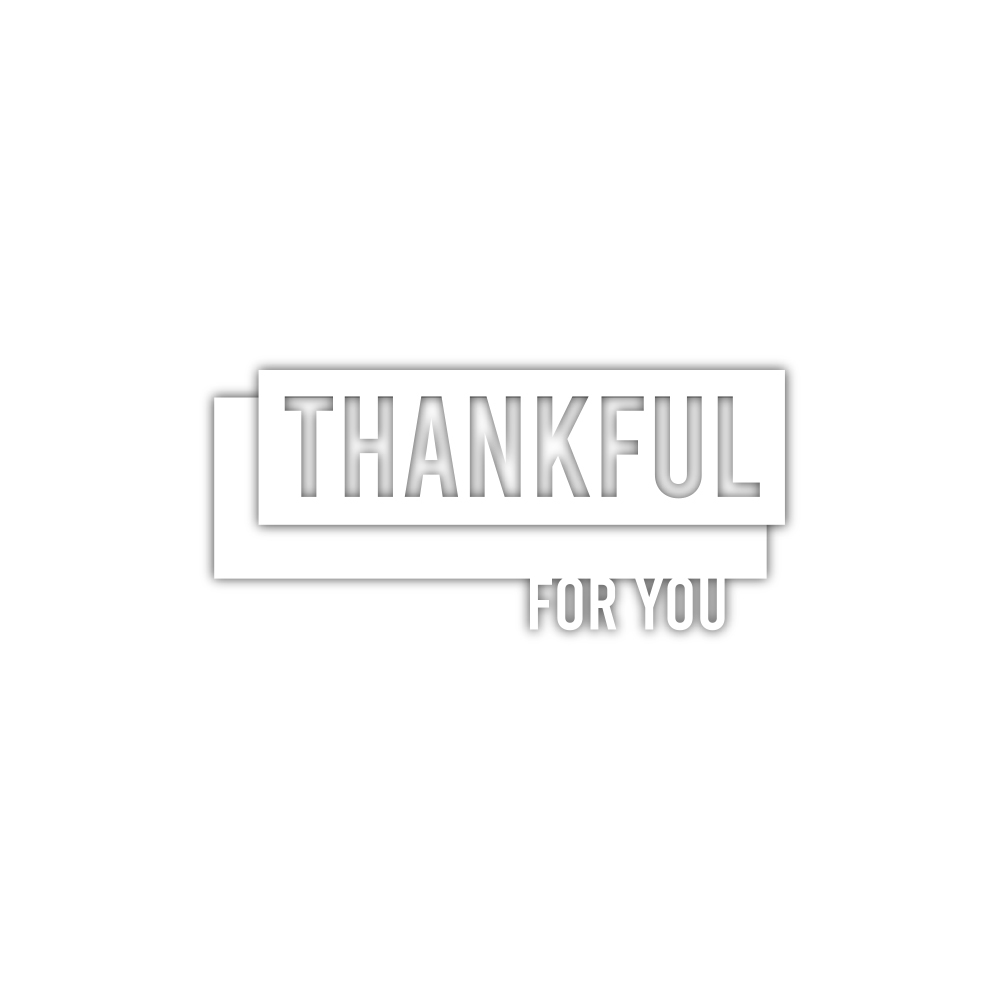 Simon Says Stamp THANKFUL FOR YOU Wafer Die sssd112194 Make Merry zoom image