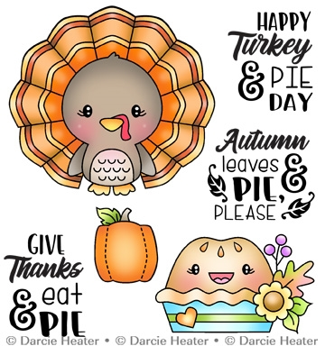 Darcie's TURKEY AND PIE DAY Clear Stamp Set pol474 Preview Image