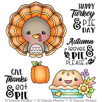 Darcie's TURKEY AND PIE DAY Clear Stamp Set pol474