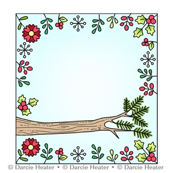 Darcie's WOODLAND PERCH Clear Stamp Set pol477
