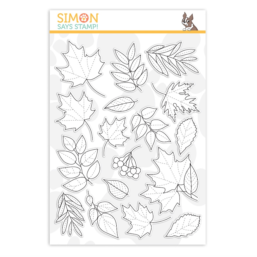Simon Says Clear Stamps AUTUMN LEAVES sss202151 Make Merry zoom image