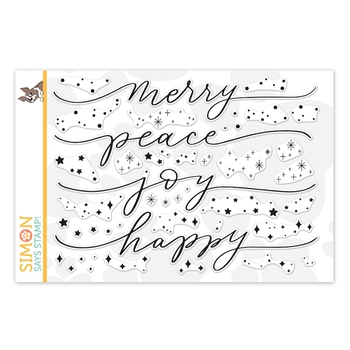 Simon Says Clear Stamps HOLIDAY SPARKLE GREETINGS sss202230c Make Merry