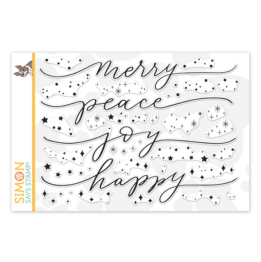 Simon Says Clear Stamps HOLIDAY SPARKLE GREETINGS sss202230c Make Merry zoom image