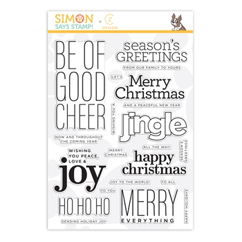 CZ Design Clear Stamps GOOD CHEER cz262c Make Merry