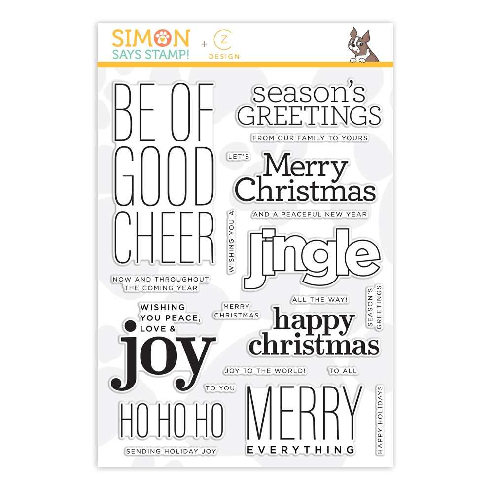 CZ Design Clear Stamps GOOD CHEER cz262c Make Merry zoom image