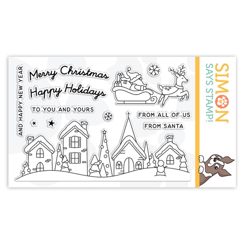 Simon Says Clear Stamps SANTA'S SLEIGH RIDE SLIDER sss302235c Make Merry Preview Image
