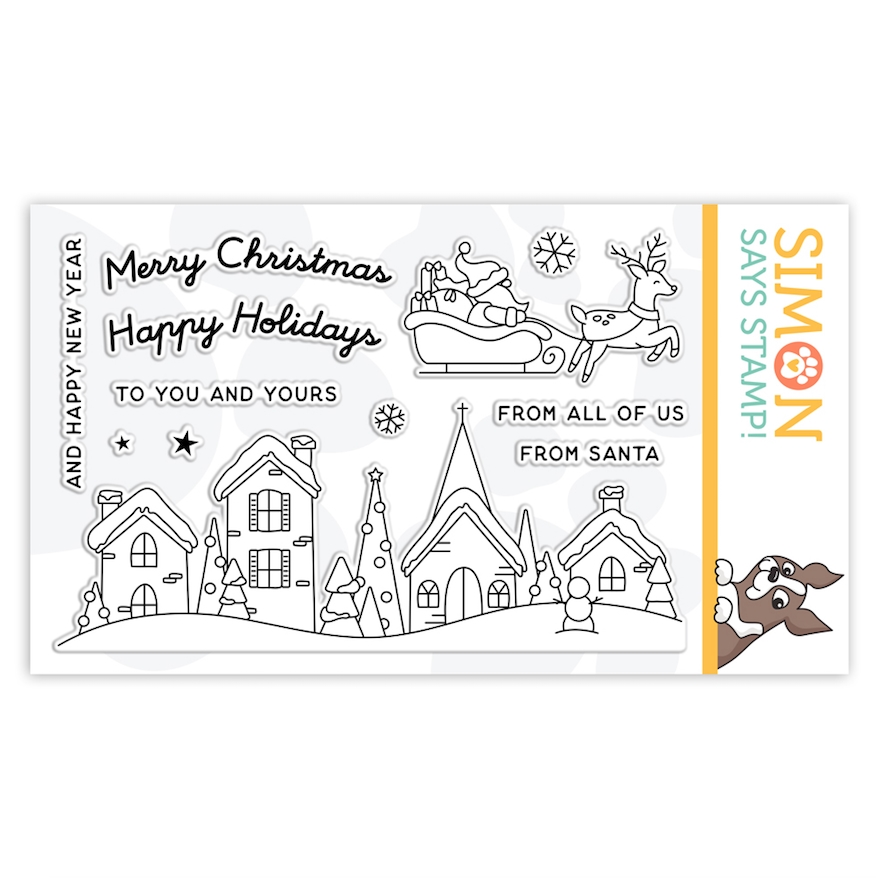 Simon Says Clear Stamps SANTA'S SLEIGH RIDE SLIDER sss302235c Make Merry zoom image
