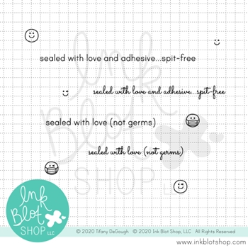 Ink Blot Shop Clear Stamp Set SPIT FREE inbl097