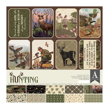 Authentique HUNTING 12 x 12 Collection Kit hun008