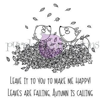 Purple Onion Designs AUTUMN FRIENDS Cling Stamp pod3028