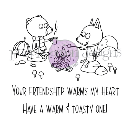 Purple Onion Designs CAMPFIRE FRIENDS Cling Stamp pod3030* Preview Image