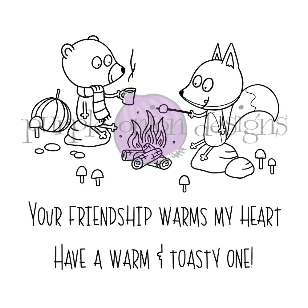 Purple Onion Designs CAMPFIRE FRIENDS Cling Stamp pod3030* zoom image