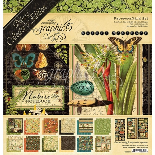Graphic 45 NATURE'S NOTEBOOK 12 x 12 Deluxe Collector's Edition 4502093* Preview Image