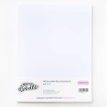 Heffy Doodle 8.5 x 11 ALCOHOL MARKER FRIENDLY Cardstock hfdw8511c