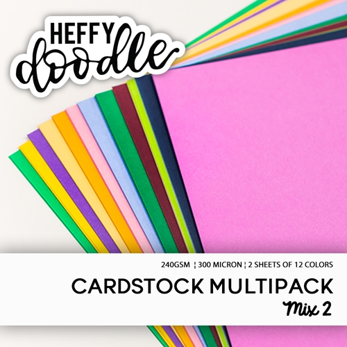 Heffy Doodle MULTIPACK MIX 2 Coloured Cardstock hfdmccmix2 Preview Image