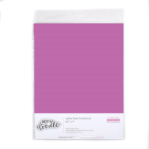 Heffy Doodle WILDBERRY Coloured Cardstock hfd0325 Preview Image