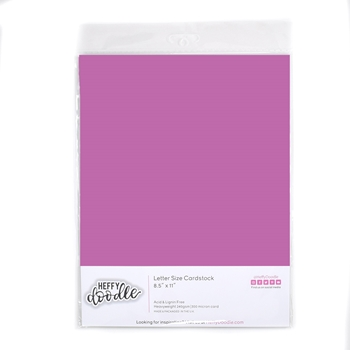 Heffy Doodle WILDBERRY Coloured Cardstock hfd0325