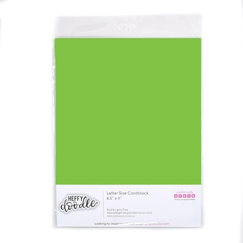 Heffy Doodle KIWI CRUSH Coloured Cardstock hfd0326