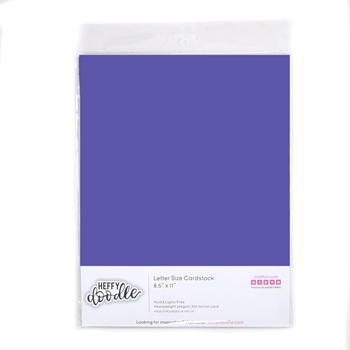 Heffy Doodle GRAPE SODA Coloured Cardstock hfd0331