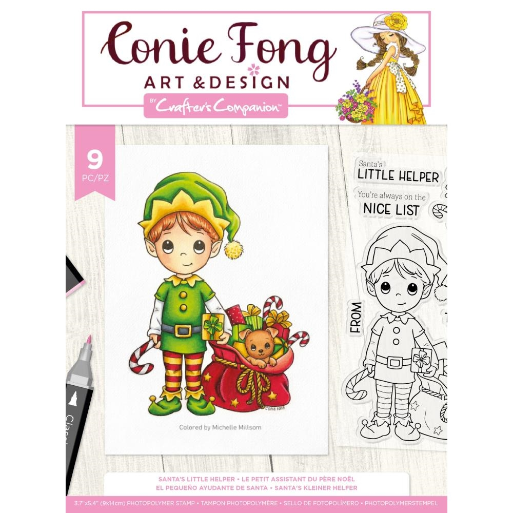 Crafter's Companion SANTA'S LITTLE HELPER Clear Stamps cfstpsanlh* zoom image