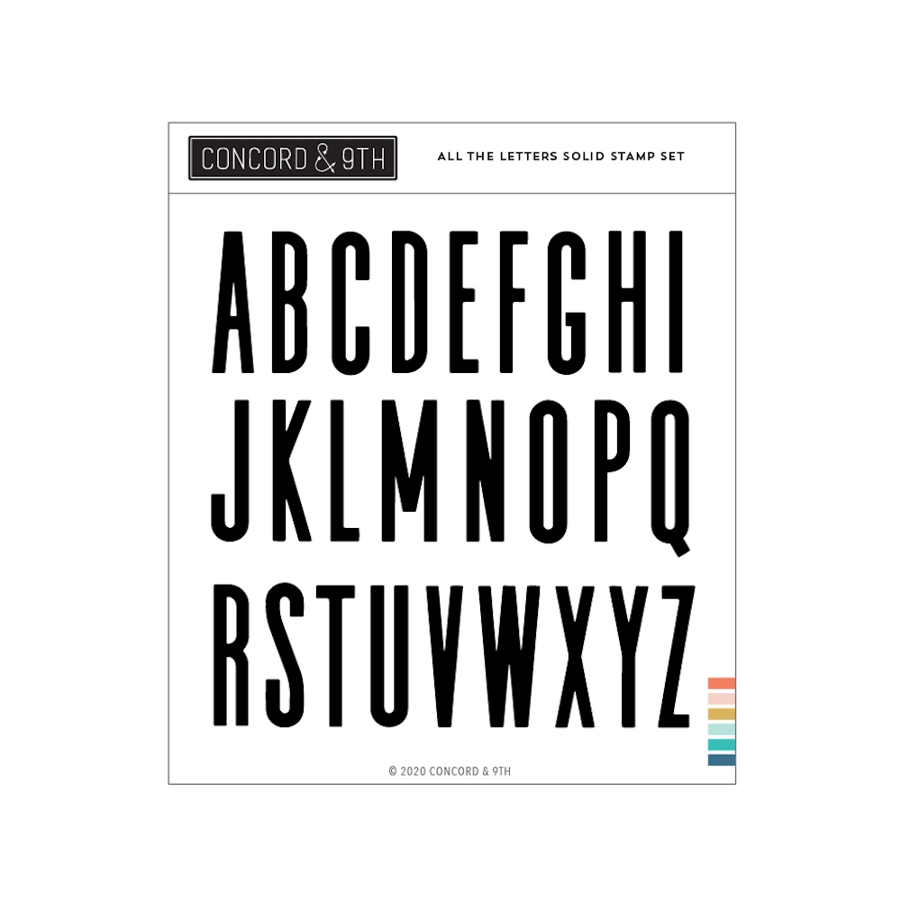 Concord & 9th ALL THE LETTERS SOLID Clear Stamp Set 10980 zoom image