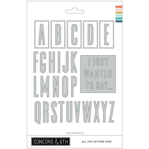 Concord & 9th ALL THE LETTERS Dies 10981 Preview Image