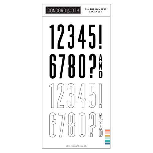 Concord & 9th ALL THE NUMBERS Clear Stamp Set 10983 Preview Image