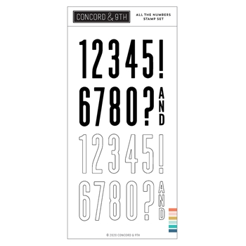 Concord & 9th ALL THE NUMBERS Clear Stamp Set 10983