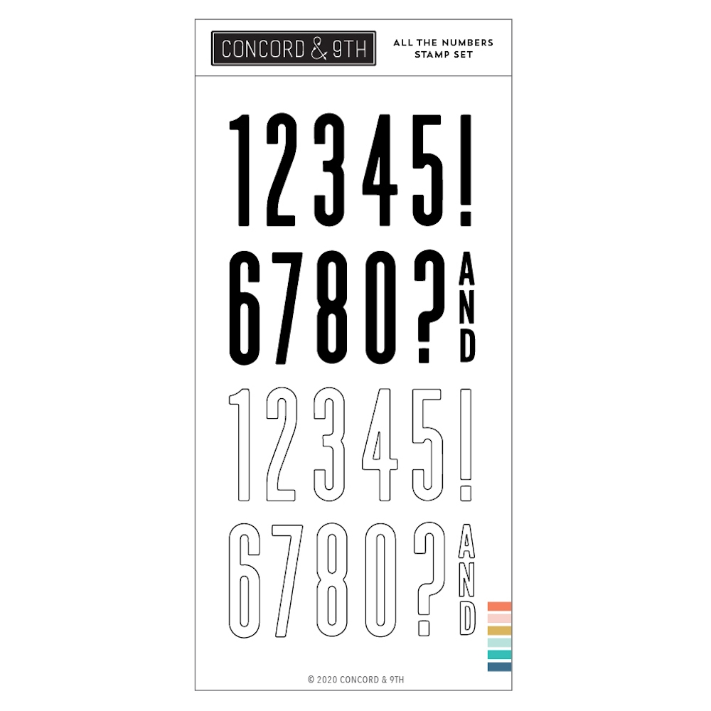 Concord & 9th ALL THE NUMBERS Clear Stamp Set 10983 zoom image