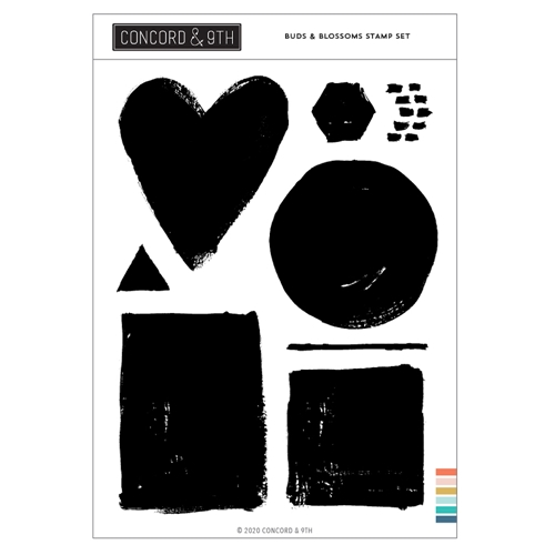 Concord & 9th PAINTED SHAPES Clear Stamp Set 10994 Preview Image