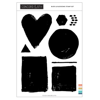 Concord & 9th PAINTED SHAPES Clear Stamp Set 10994