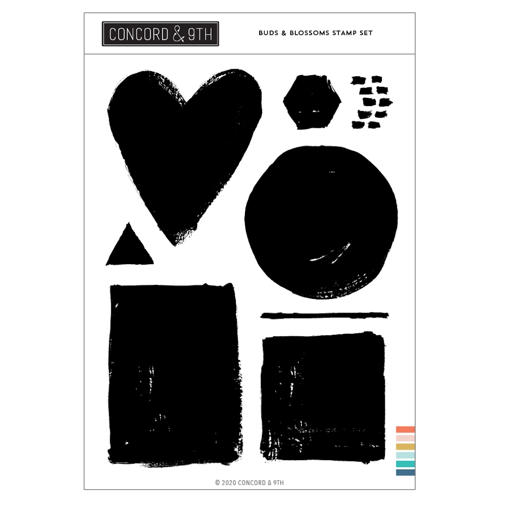 Concord & 9th PAINTED SHAPES Clear Stamp Set 10994 zoom image