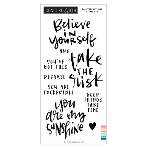 Concord & 9th PAINTED SAYINGS Clear Stamp Set 10995 Preview Image