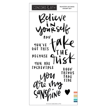 Concord & 9th PAINTED SAYINGS Clear Stamp Set 10995
