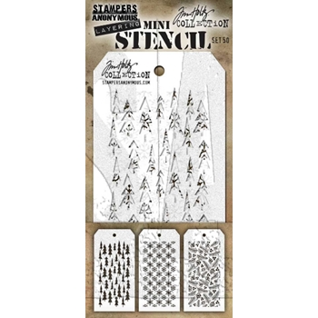 RESERVE Tim Holtz MINI STENCIL SET 50 MST050 **