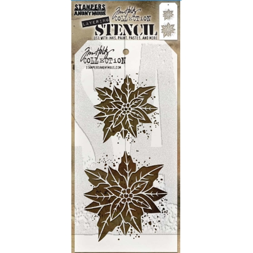 Tim Holtz Layering Stencil POINSETTIA DUO THS153 Preview Image