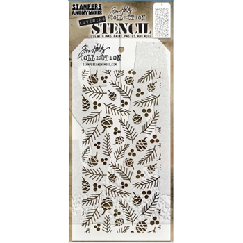 Tim Holtz Layering Stencil GATHERINGS THS152