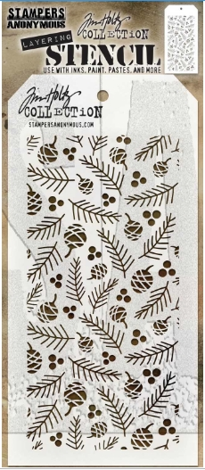 Tim Holtz Layering Stencil GATHERINGS THS152 ** zoom image