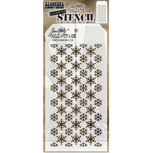 Tim Holtz Layering Stencil FLURRIES THS151 ** Preview Image